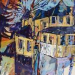 "Violinist / Oil on canvas / 48""x72"" / 2015"