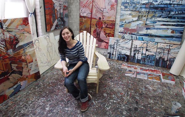 Amy Dryer in her downtown studio