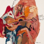 "Chords / Oil on canvas / 48""x48"" / 2014"