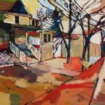 "Crossroads/ Oil on canvas/ 36""x48""/ 2015"