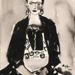 "Frida K 6/ Oil on canvas/ 20""x16""/ 2015"