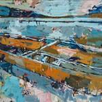 "Drift/ Oil on canvas/ 36""x48""/ 2015"