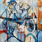 """City Bicycle/ Oil on canvas/ 48""""x48""""/ 2015"""