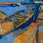 "Orange Boat II/ Oil on canvas/ 30""x36""/ 2015"