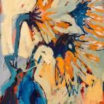 "Three Suns III/ Oil on canvas/ 20""x16""/ 2015"