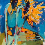 "Three Suns I/ Oil on canvas/ 20""x16""/ 2015"