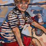 "Boy at Sea/ Oil on canvas/ 18""x14""/ 2012"